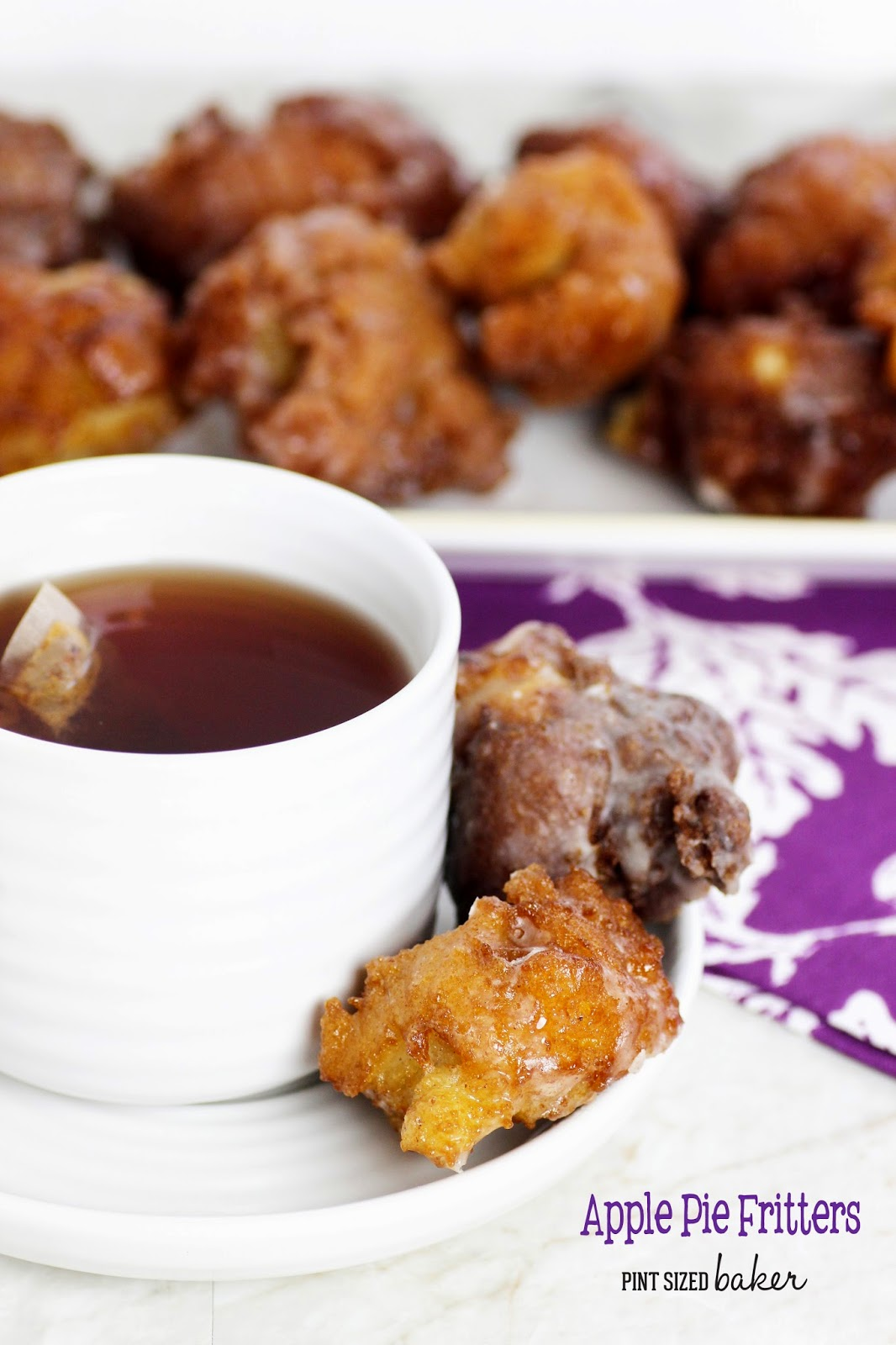 Make some homemade Apple Pie Fritters. There's more than enough to feed your hungry crowd!