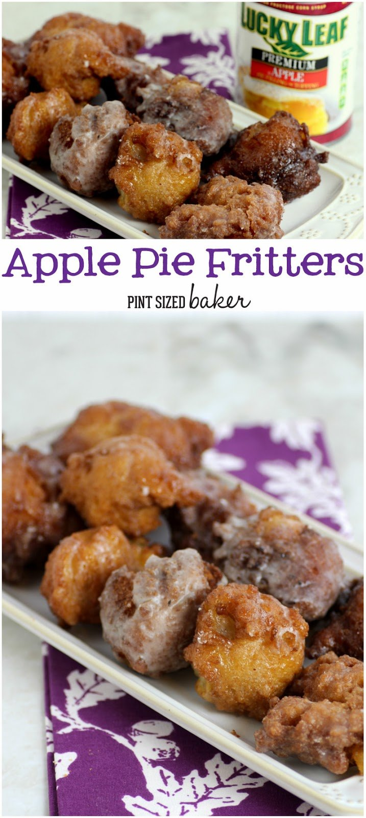 Homemade Apple Pie Fritters. Easier than you think and cheaper than buying them. #BakeThisHolidaySpecial