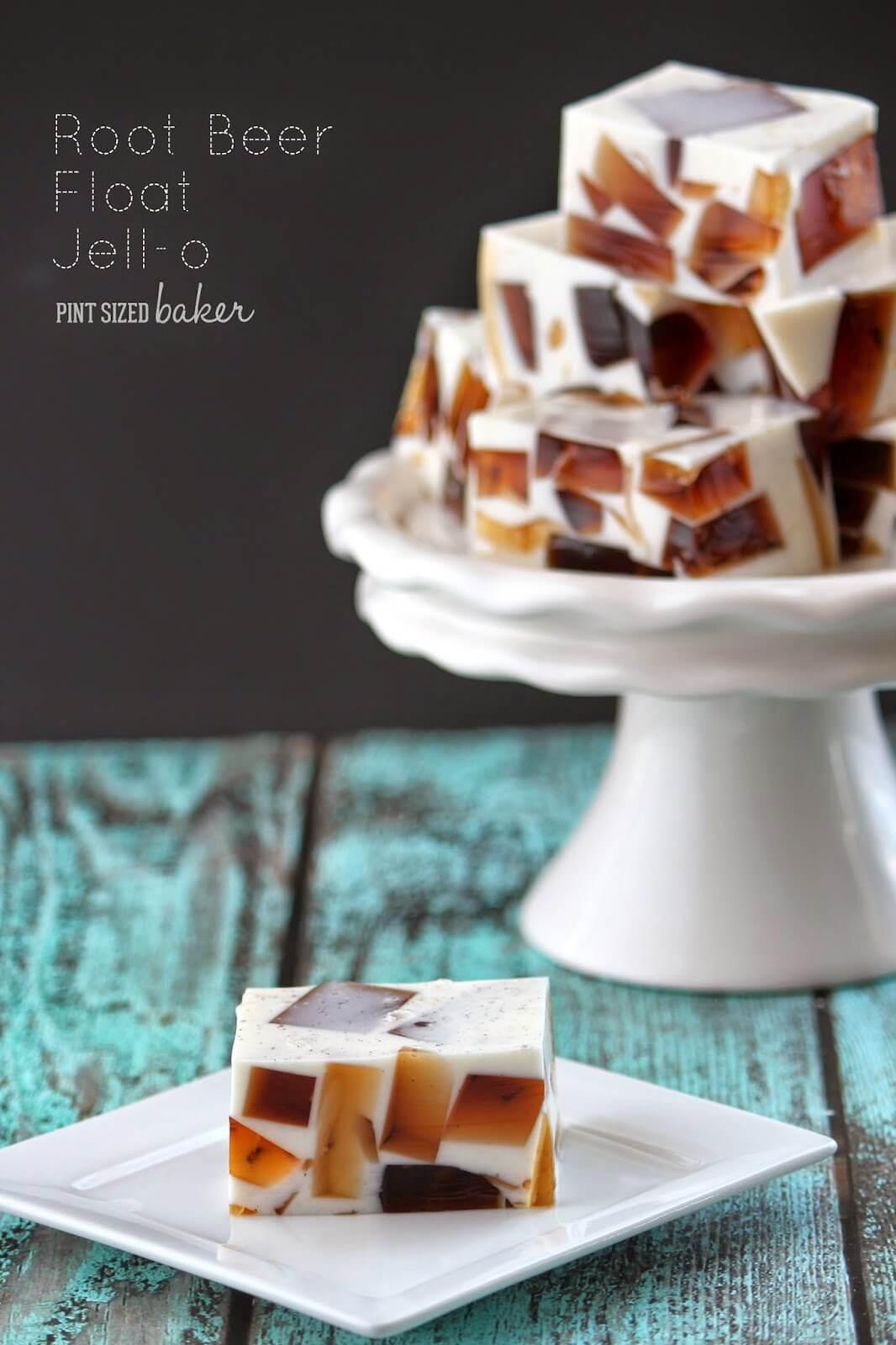 Stupendous Root Beer Float Jello Recipe Pint Sized Baker Funny Birthday Cards Online Unhofree Goldxyz