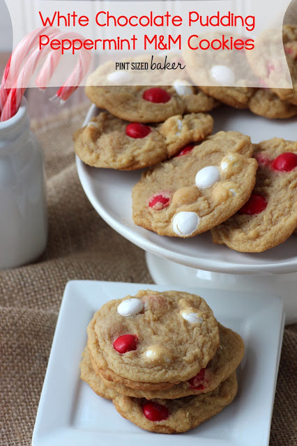 White Chocolate Pudding Peppermint Cookies