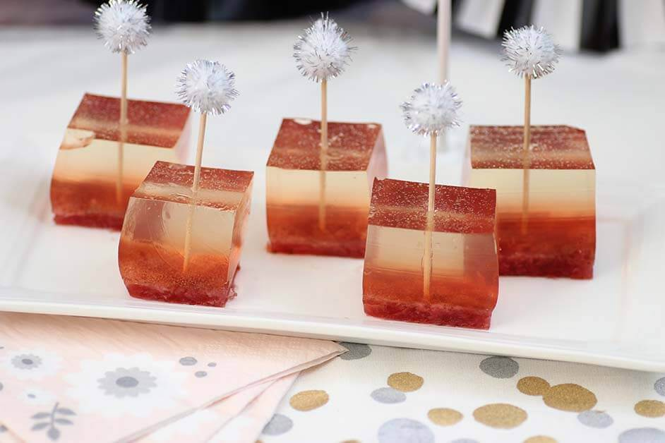 Strawberry Champagne Jello Shots Pint Sized Baker