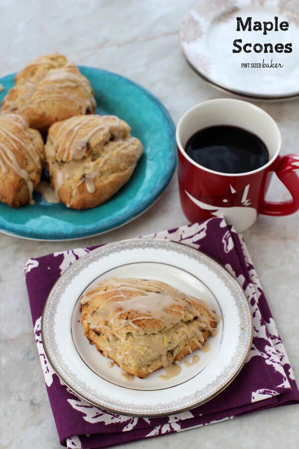 Easy, Small Batch Maple Pecan Scone Recipe - Pint Sized Baker