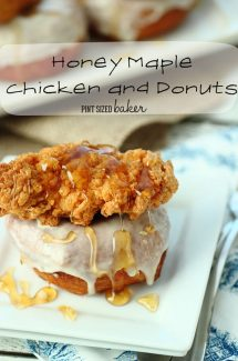 Honey Maple Chicken and Donuts