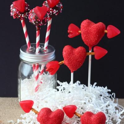 Valentine's Heart Cake Pops