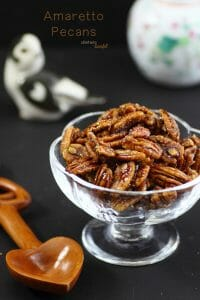 Need a great topping for your next sundae? Try these Amaretto Pecans! They will totally impress you!