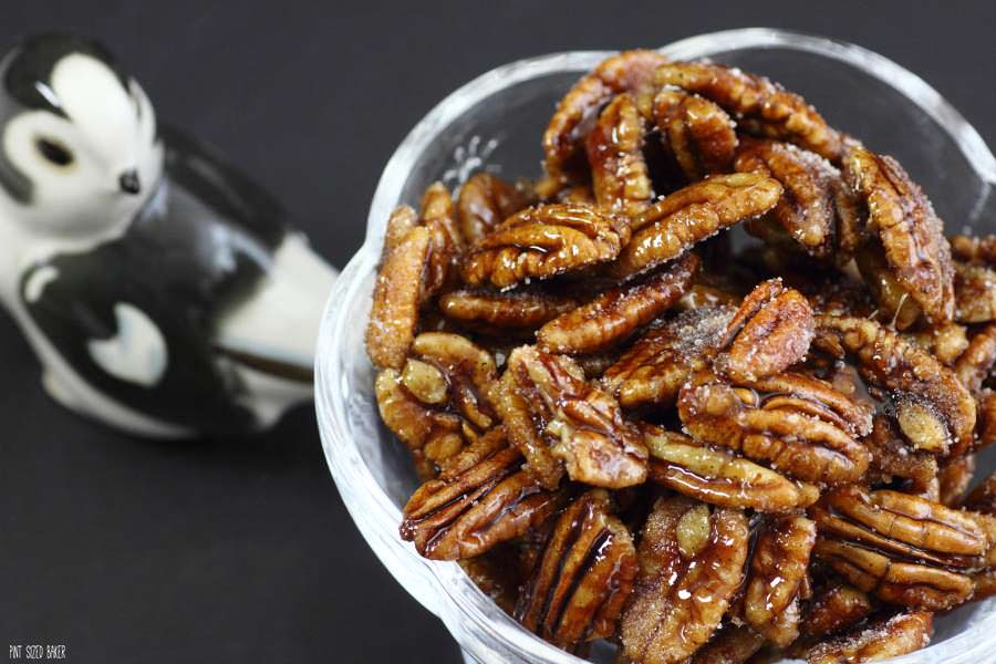 You're going to love these Amaretto Pecans on your winter desserts. Soaked in Amaretto and then cooked on the stove top.