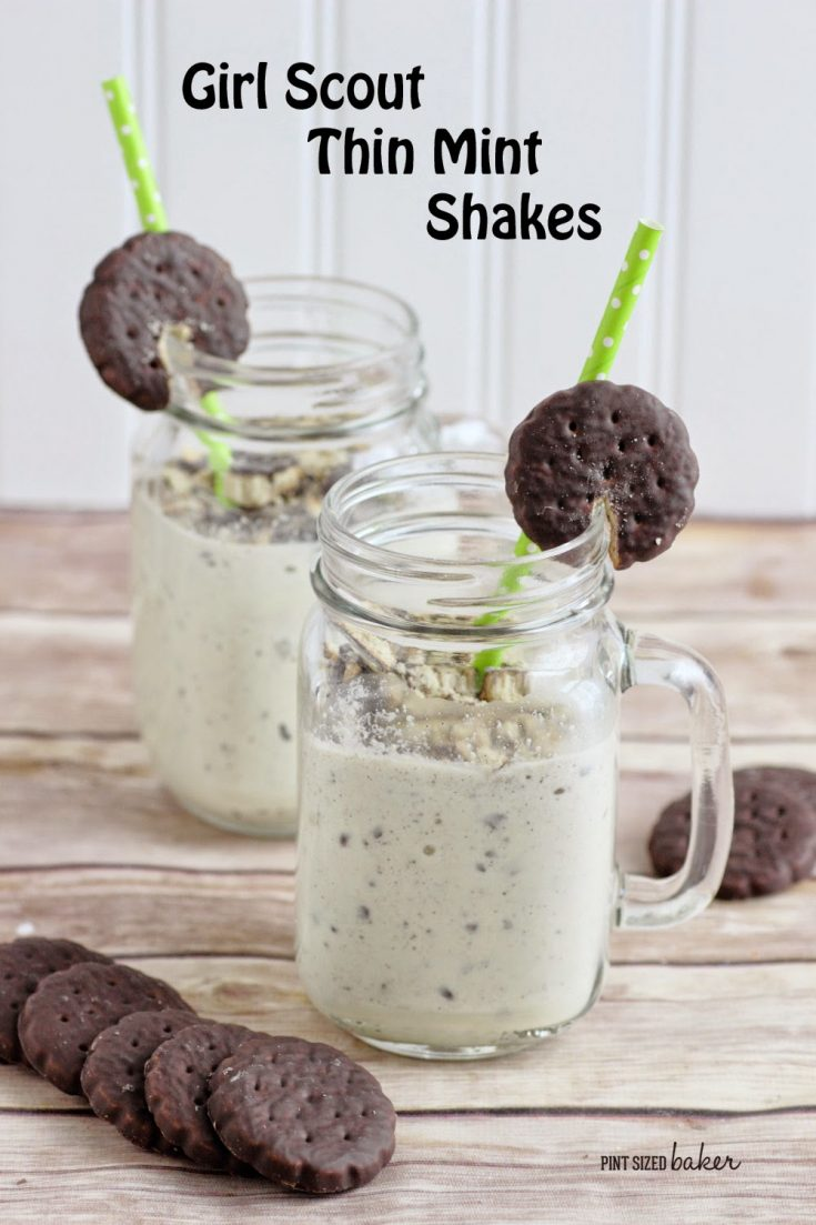 Girl Scout Thin Mint Cookie Milkshakes