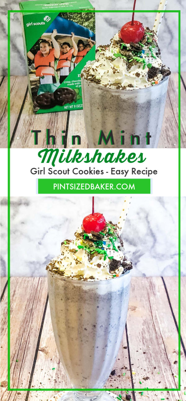 Nothing beats a great milkshake on a hot day! Toss in a few Thin Mint cookies for a fantastic milkshake!