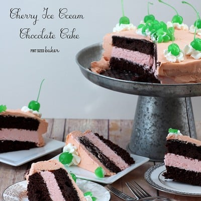 Cherry Ice Cream Chocolate Mousse Cake