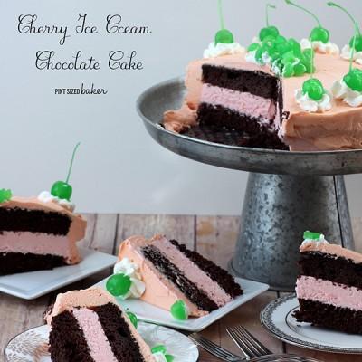 Cherry Ice Cream Chocolate Mousse Cake