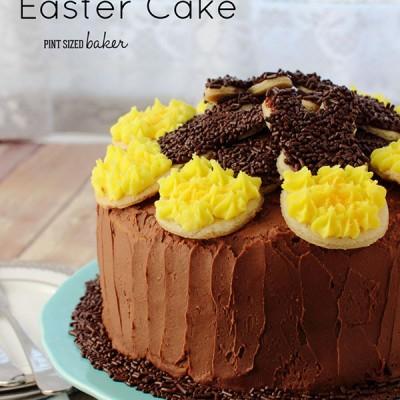 Peeps Bunny Cookie Sunflower Cake