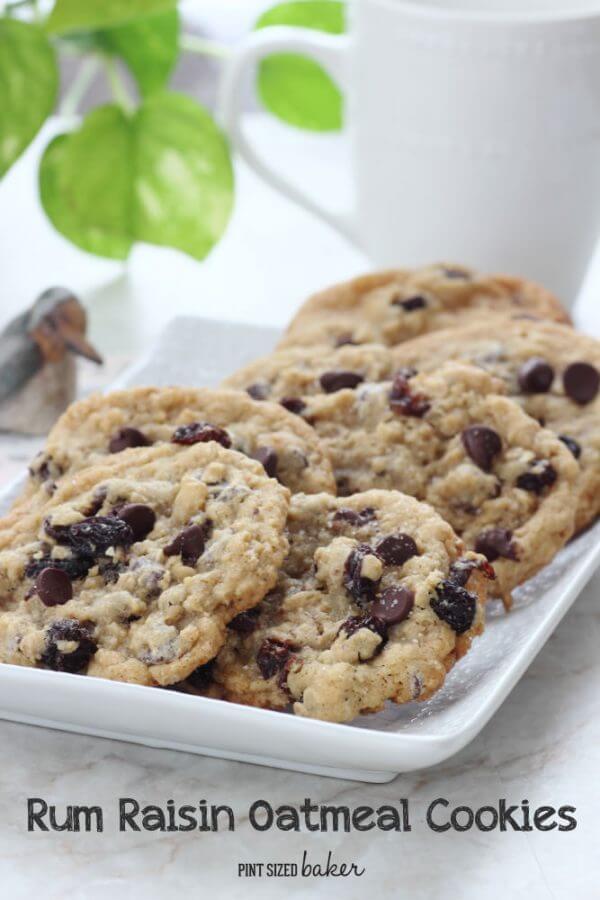 Rum Raisin Chocolate Chip Cookies