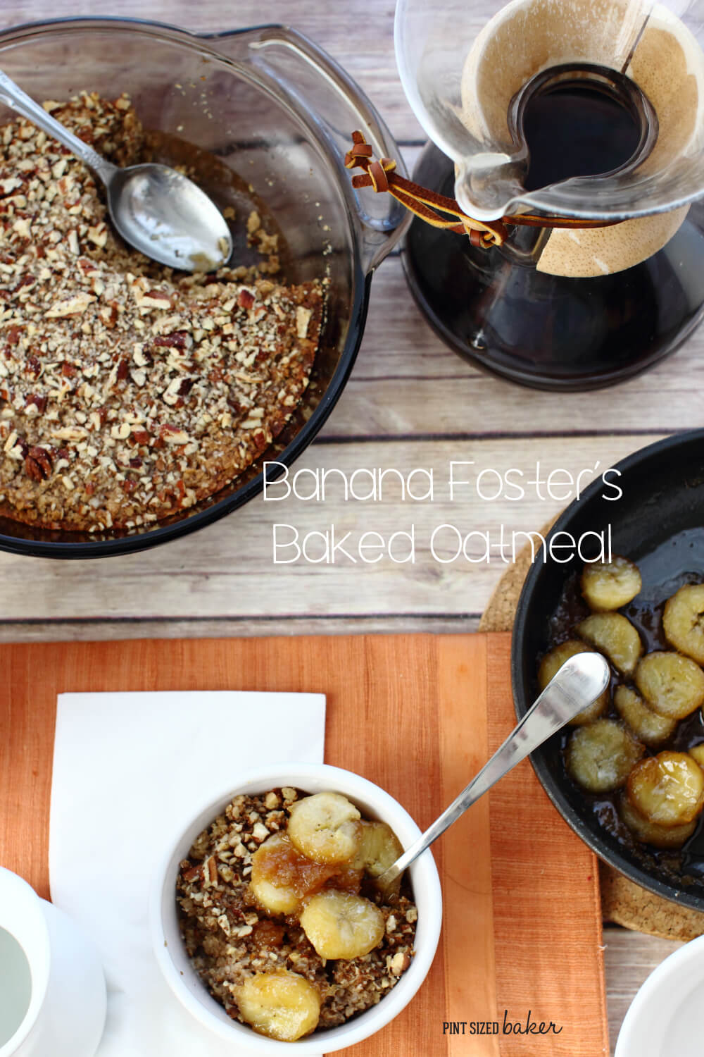 Mornings were made for this warm and filling Banana Fosters Baked Oatmeal.