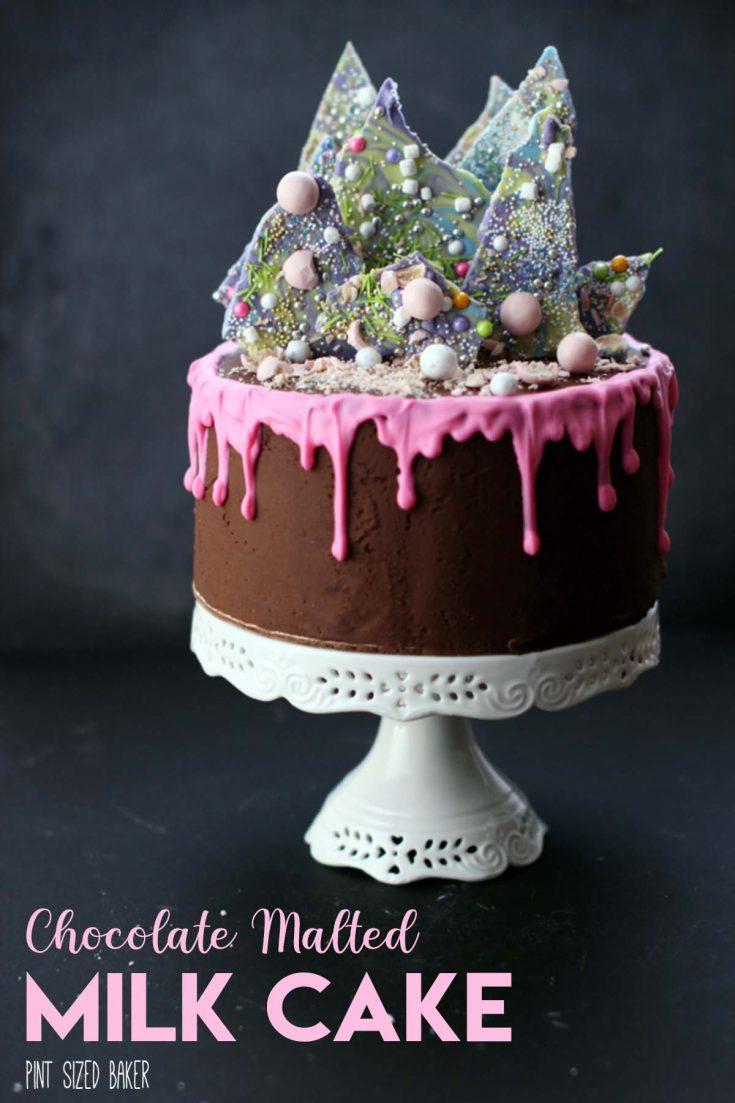 Chocolate Malted Milk Cake