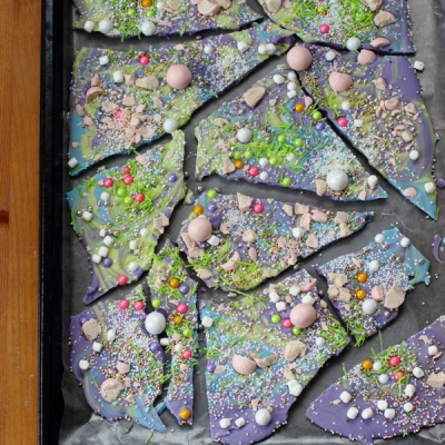 Unicorn Poop Candy Bark