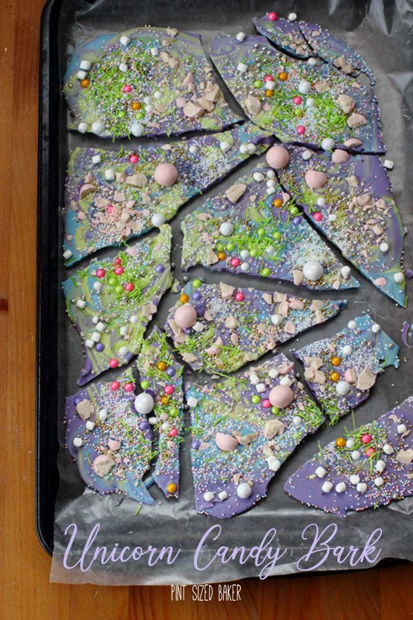 Unicorn Poop Candy Bark is a fun and colorful way to make your own candy. You can mix and match colors to coordinate with your party colors.