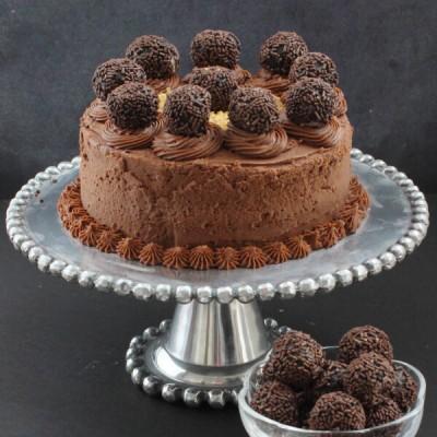 Smoked Chocolate Whisky Cake