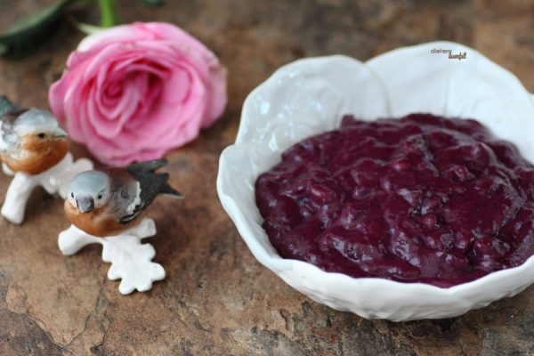 A mixture of blueberries and walnuts make up this wonderful blueberry curd.