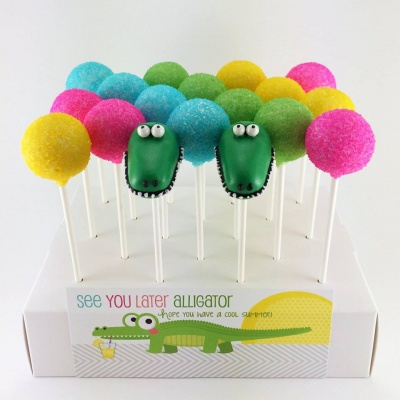 Alligator Cake Pop Tutorial