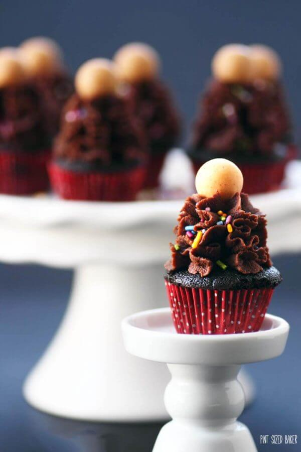 Size isn't everything. These Chocolate Peanut Butter Mini Cupcakes are sure to make every mouth happy, even if they are miniature.