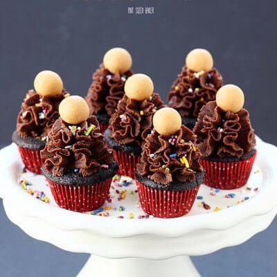 Chocolate Peanut Butter Mini Cupcakes