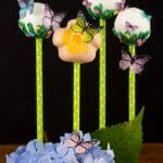 Spring is here! Making these Wafer Paper Butterfly Cake Pops are so easy! Order your mini butterflies and then decorate some simple flower cake pops.