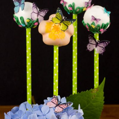 Wafer Paper Butterfly Cake Pops