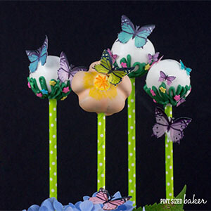Butterfly Wafer Cake Pops- featured image