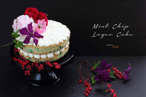 Any adult would love to have this Mint Chip Layer Cake for their birthday. It's whimsy, yet so simple.
