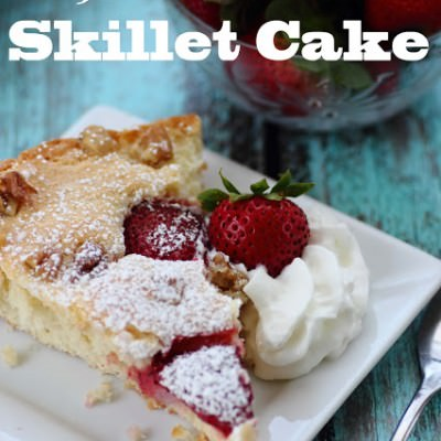 Strawberry Buttermilk Skillet Cake