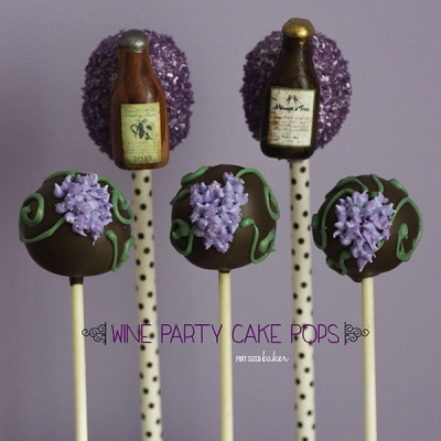 Wine Bottle Cake Pops