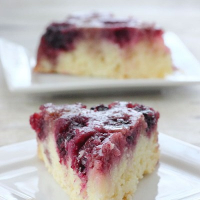 Blackberry Upside Down Skillet Cake