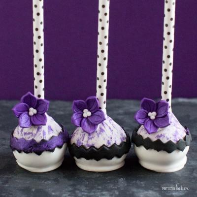 Purple Fashion Cake Pops