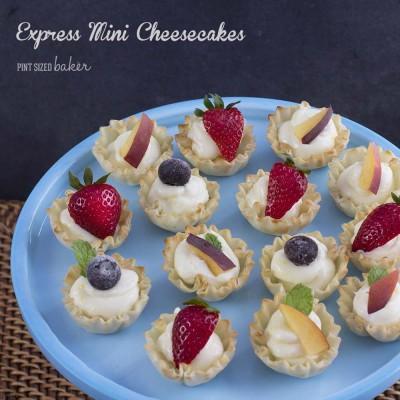 Express Mini Lemon Cheesecakes
