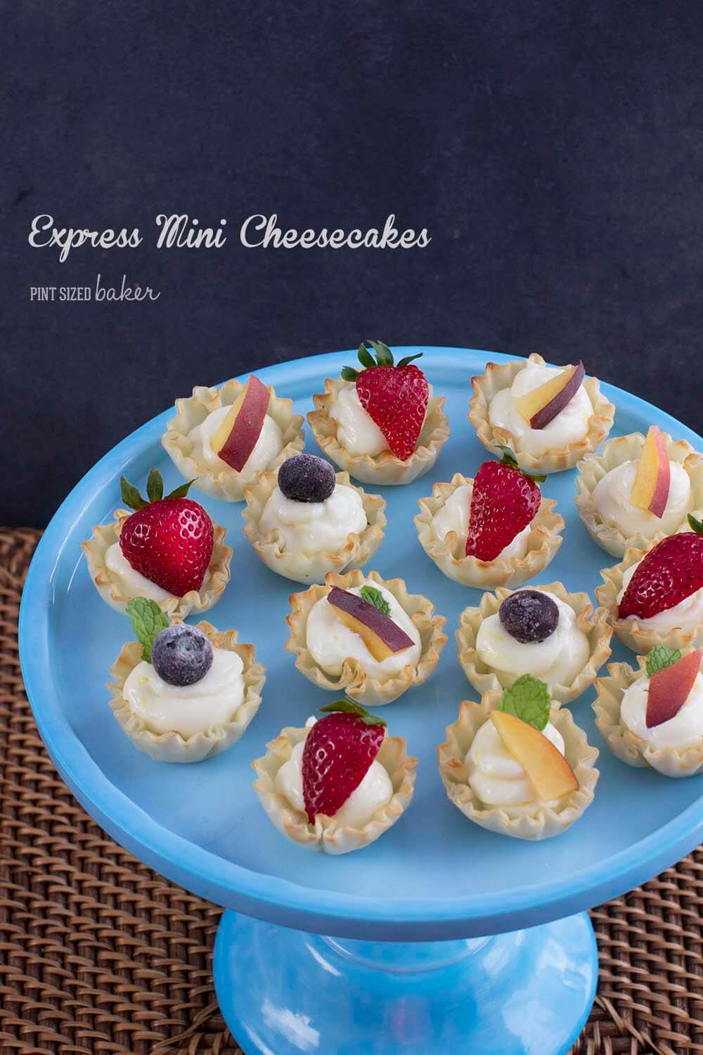 Whip up these Express Mini Lemon Cheesecakes in no time and be ready for your dinner party. They are stunning to serve and everyone gets to try one!
