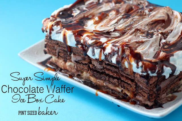 Chocolate Wafer Cookie Icebox Cake
