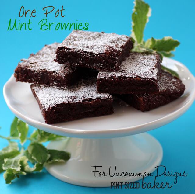 Chocolate Mint Fudgy Brownies