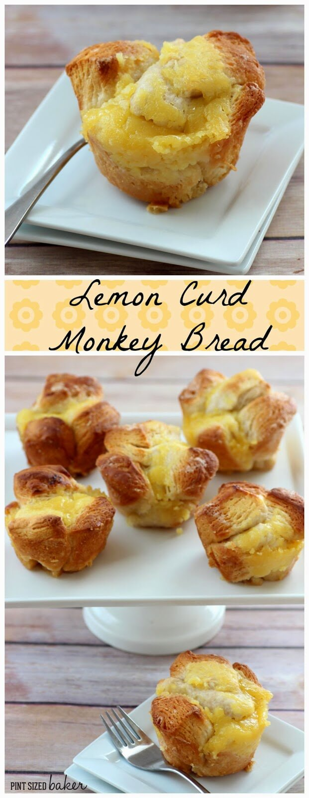 Individual Lemon Curd Monkey Bread