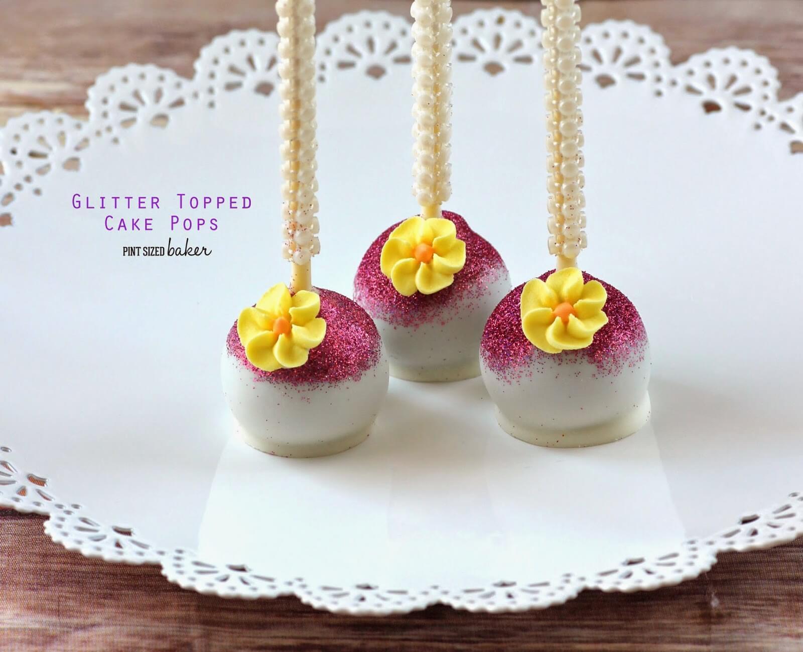 How to Make Glitter Topped Cake Pops