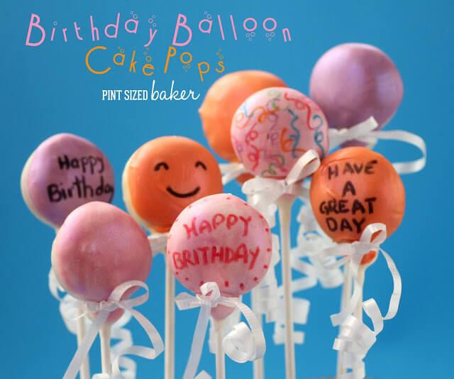 Happy Birthday Balloon Cake Pops