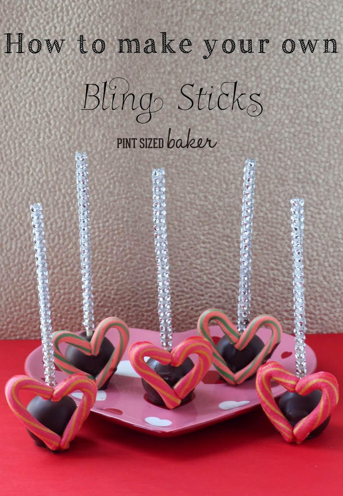 How to Make Bling Sticks for your Valentine Cake Pops