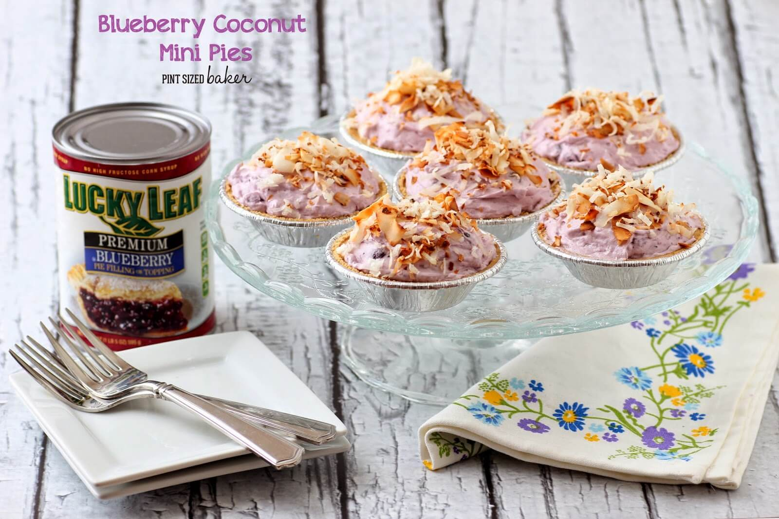Blueberry Coconut Mini Pies