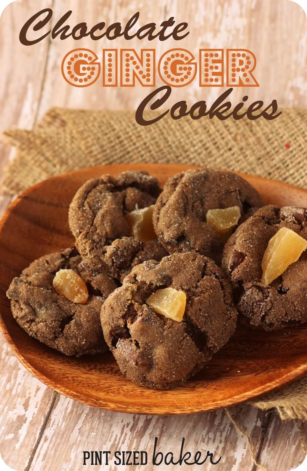 Soft Chocolate Ginger Cookies