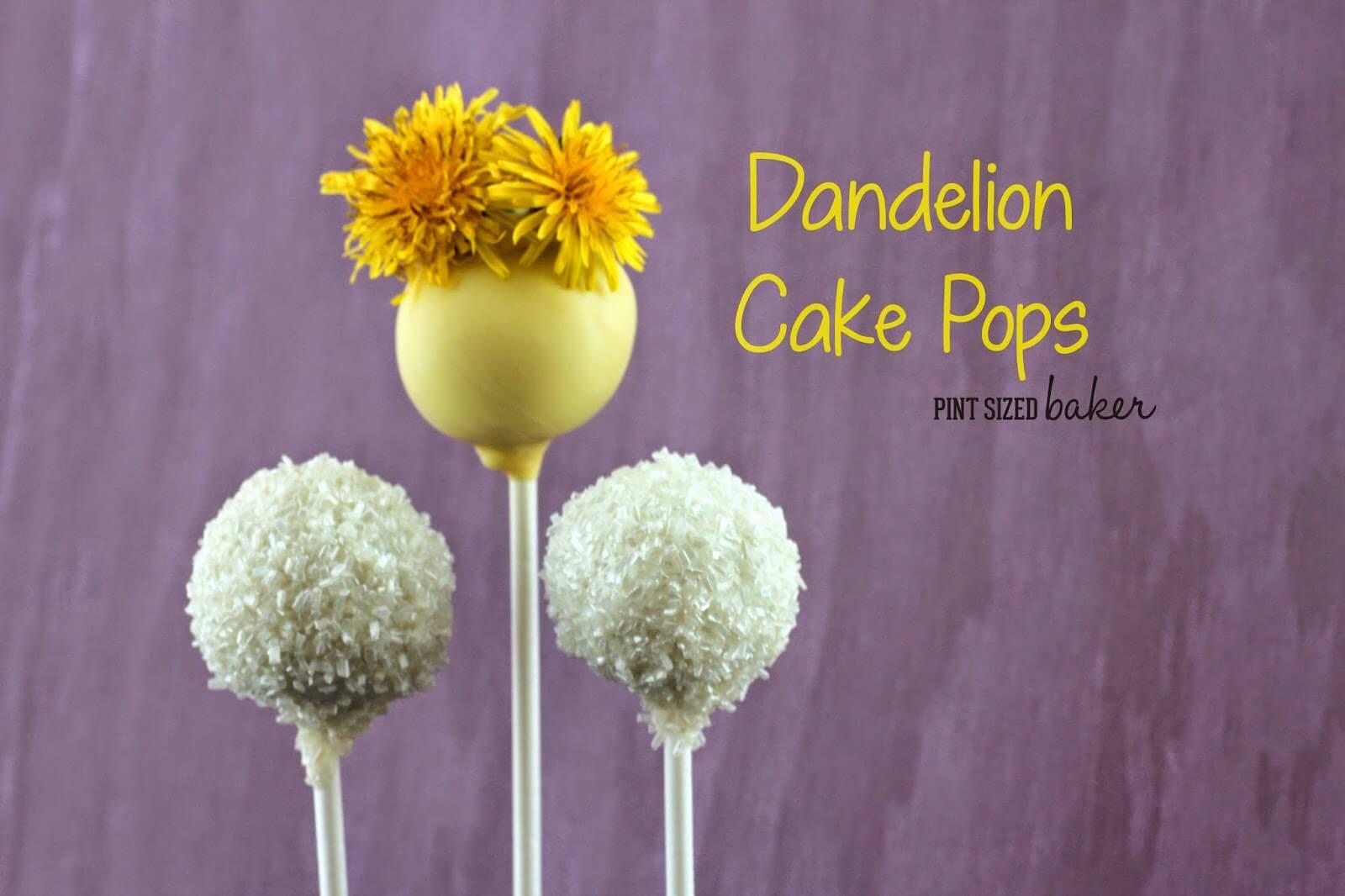 Dandelion Cake Pops