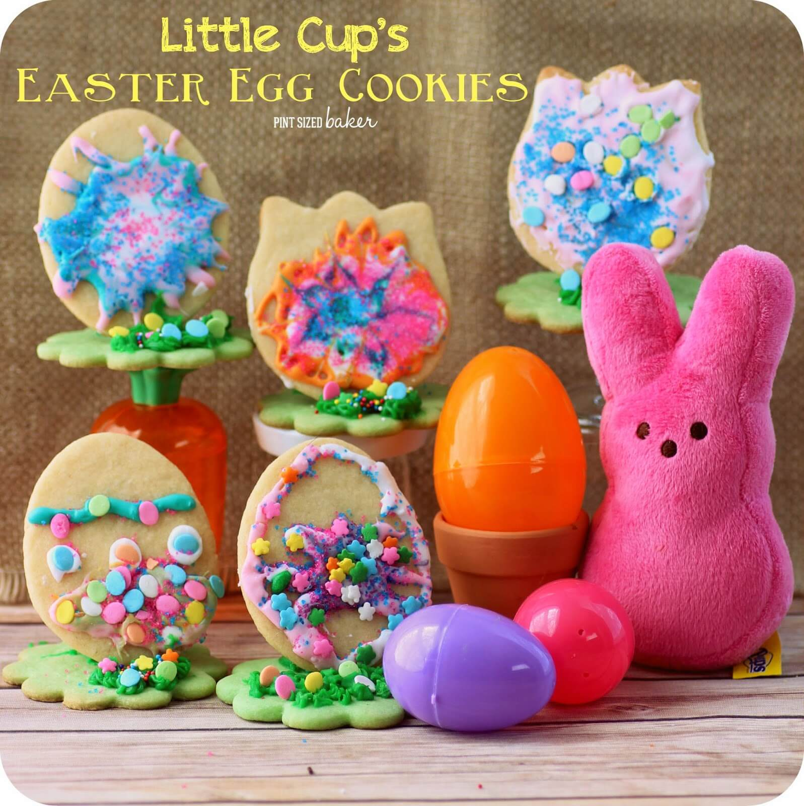 Little Cup's Easter Egg Cookies