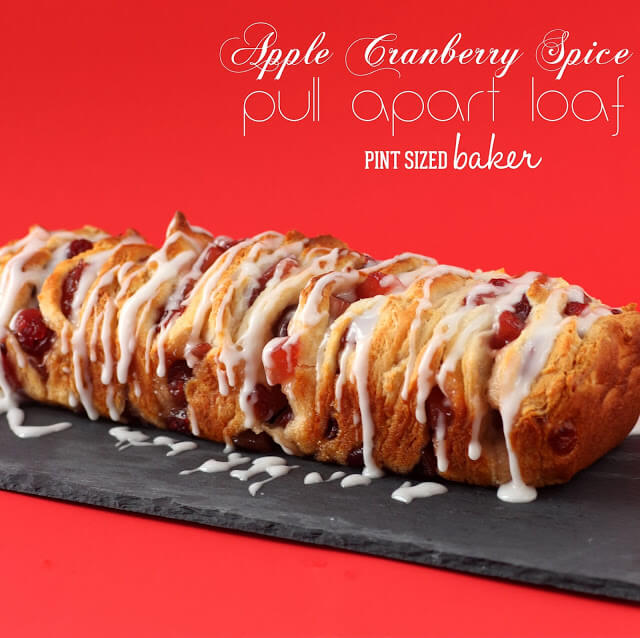 Apple Cranberry Spice Pull Apart Loaf