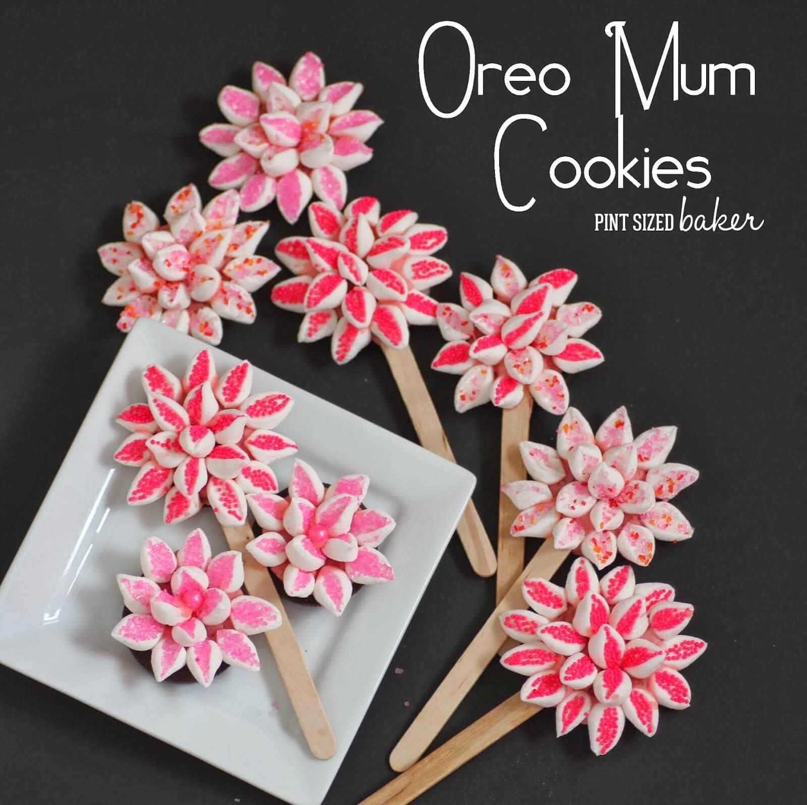 Oreo Mum Cookie Flowers