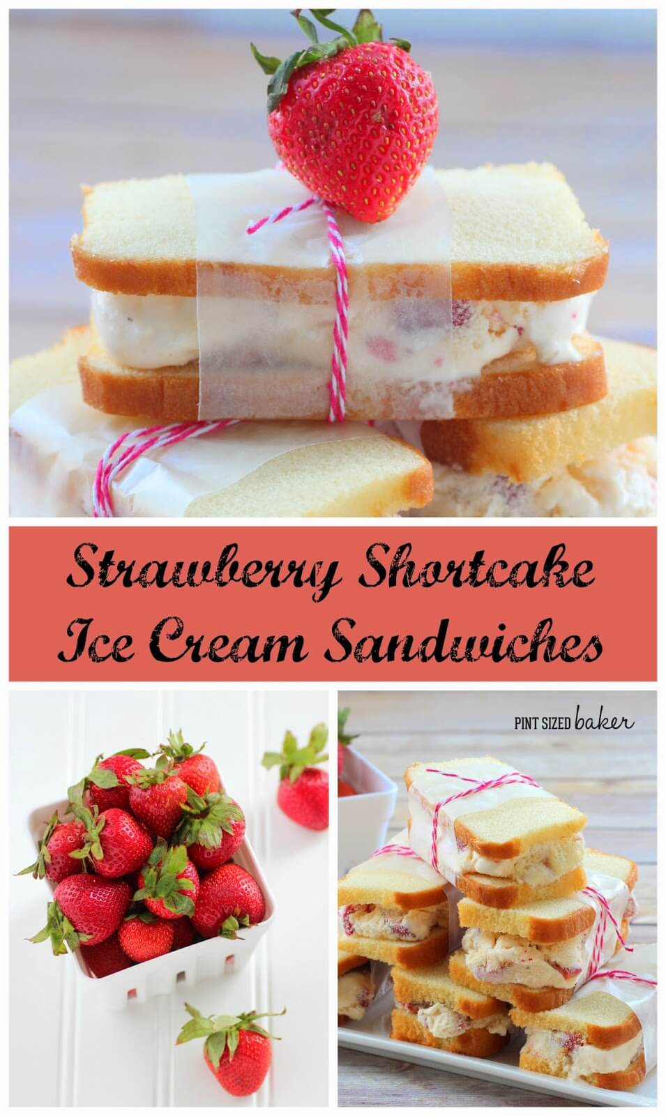 Strawberry Shortcake Ice Cream Sandwiches