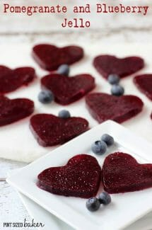 Pomegranate and Blueberry Jell-o