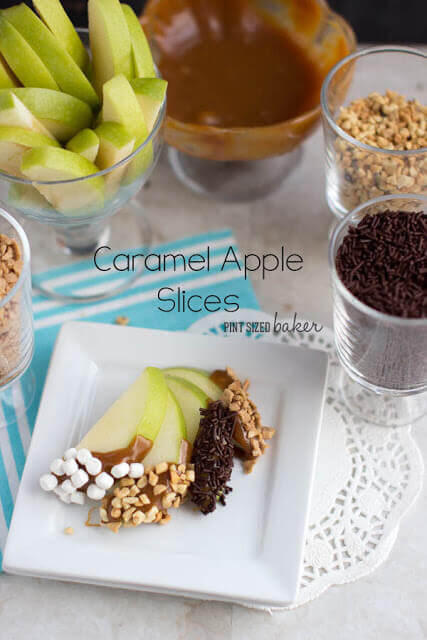 Easy Caramel Apples and Slices